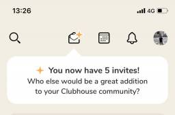 Convite clubhouse ou clubehouse