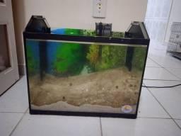 Título do anúncio: Vendo aquário e filtro tipo cascata 25wts