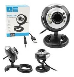 Webcam HD 720p USB - Com Microfone Integrado E Ângulo Ajustável