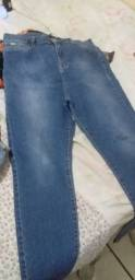 Calça jeans marfino nunca usada 48