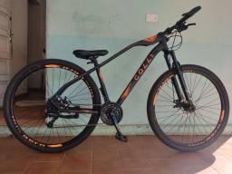 Título do anúncio: Bicicleta Colli Bike Duster Aro 29 com 21 Marchas ? Preta/Laranja COM CUBOS ROLAMENTADOS