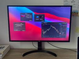 """Monitor LG Led 31.5"""" 4K FreeSync, HDMI/DisplayPort, Som Integrado e Altura Ajustável"""