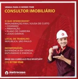 Título do anúncio: Consultor(a) de Vendas - Construtora Metrocasa