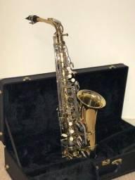 Saxofone Alto Eagle Sa 500 Ln Laqueado/niquelado