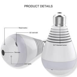 Câmera lâmpada com ângulo de visão 360° tipo Olho-de-Peixe