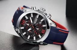 Lindo Relógio Masculino Casual Esportivo (Novo na caixa)