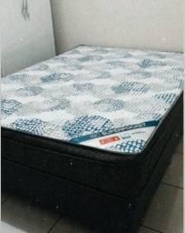 Cama Box Casal colchão ortobom Molas ensacadas