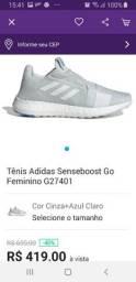 02 Tênis Adidas número 35 por 500.00