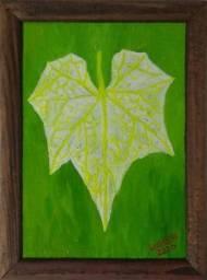 Pintura Folha de chuchu