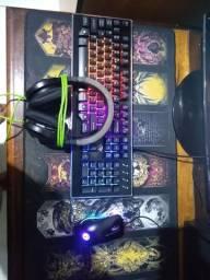 Kit gamer mouse teclado headset
