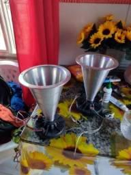 Cornetas alumínio novas e com dravi shampios