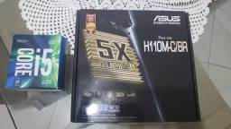 Intel i5 7500 e Placa Mãe Asus H110M - C/BR