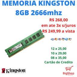 Memória DDR4 Kingston ,8GB 2666MHZ com Garantia