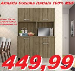 Armário Cozinha Itatiaia + Frete GRÁTIS