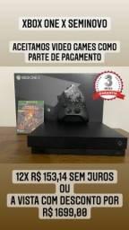 Título do anúncio: XBOX ONE X SEMINOVO C/ 1 JOGO
