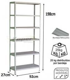 Promoção estante de aço P 27 c/ 06 bandejas c / reforço ( nova ) leia o anúncio !!