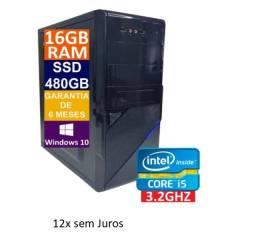 Título do anúncio: Computador Desktop Core i5 - 16gb ddr3 - ssd 480gb - 12x sem juros nos cartões
