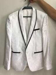 Paletó / Blazer Masculino Raffer Branco com Detalhes