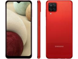 samsung A12 64gb 4 gb ram cor : azul , preto e vermelho.