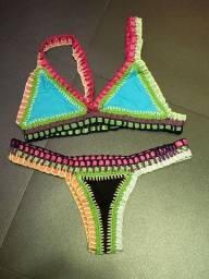 Biquini de crochê (modelo kini dupla face)