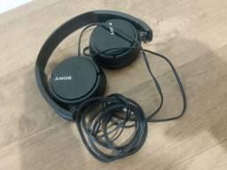 Fone de ouvido Sony dobrável