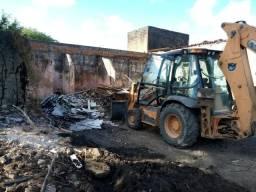 Aterro,escavaçao,demolição limpezas remoção retroescavadeira