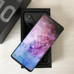 Galaxy S10 Prism Black 128gb / Completo e impecável!!!