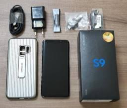 """Celular Samsung S9 Prata 128gb Prata 4G Tela 5,8"""" + Grátis Capa Especial Alto Impacto"""