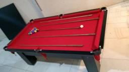 Mesa Charme Caçapa Redes Cor Preta Tecido Vermelho Mod. RNMX9562
