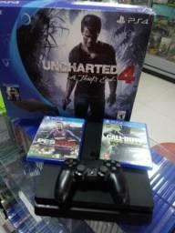 Playstation 4 + Garantia de 01 ano - aceitamos video games como parte do pagamento
