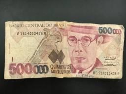 Cédula de 500 Mil Cruzeiros