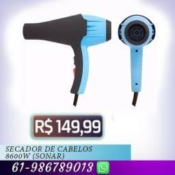 R$ 149,99 Secador de Cabelos 8600w (sonar) Azul