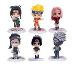 Kit 6 Boneco Action Figure Naruto Sasuke Gaara Itachi