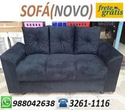 Receba No Mesmo Dia!!Sofa 3 Lugares Com Almofadas Perfeito Para Ambientes Pequenos