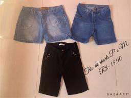 Trio de shorts