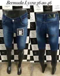 Calça Jeans/Bermuda Jeans - Slim Lycra