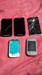 Vendo celulares para retirada de peças