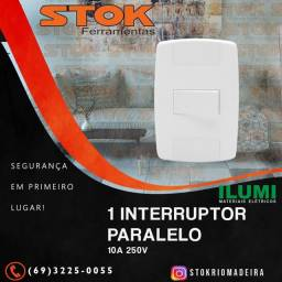 Conjunto 1 Interruptor Paralelo 10A 250V