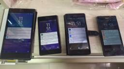 Lote 4 celular  sony leia o anúncio
