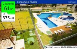 DPA|61 m²| 70 m²|90 m²| 2 e 3 quartos| Boa Viagem| Condomínio clube