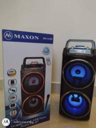 Caixa de Som Maxon 4000W sem fio, Nova, Lacrada, Bluetooth