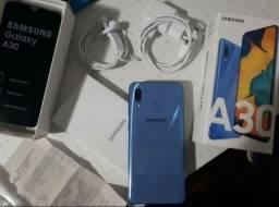 Samsung Galaxy A30 de 64GB e biometrias com nota fiscal