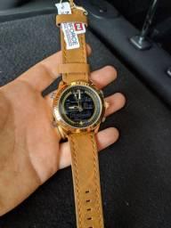 Relógio Naviforce Original Couro à Prova D'água
