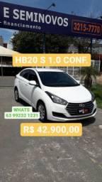 HB20 S 1.0 CONF ANO 2017