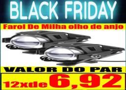 Farol De Milha olho de anjo Led Redondo 30w 12v moto Carro Jeep Caminhão kp mto3