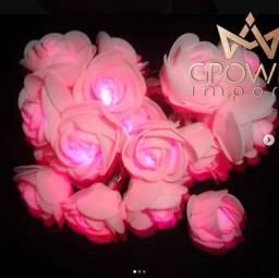 Título do anúncio: Cordão luminoso de flores com 2metros