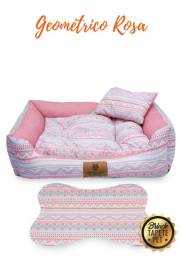 Cama Para Cachorro - Geométrica Rosa (cama Pet)