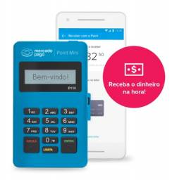 Máquina de Cartão Point Mini do Mercado Pago - Azul