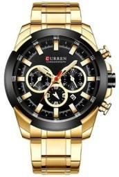 Relógio Curren 8361 Dourado Original - Novo, Nota fiscal, Parcela sem juros
