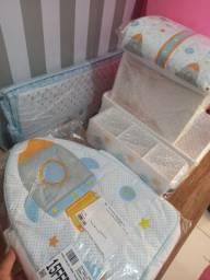 Kit Quarto de bebê (Trocadores ,Abajur, potes e bandejas, 2 porta fraldas